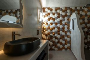 Soil of Sun Luxury Suites in Megalochori of Santorini island